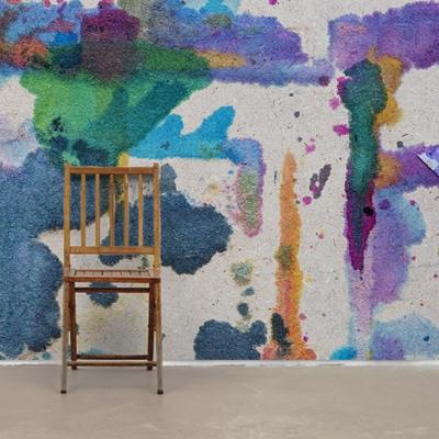 Цветные современные фотообои с яркими кляксами  Узоры на Стене