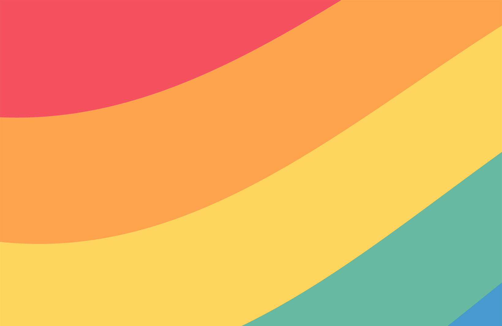 Оптимистичные фотообои с цветами радуги Узоры на Стене