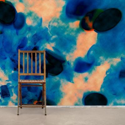 Необычные фотообои синяя абстракция  Узоры на Стене