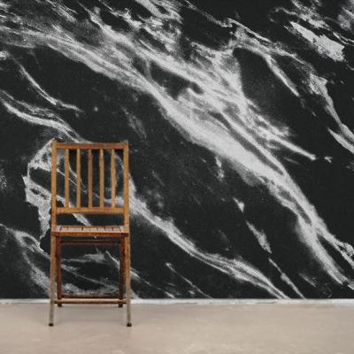 Черно-белые фотообои под мрамор  Узоры на Стене