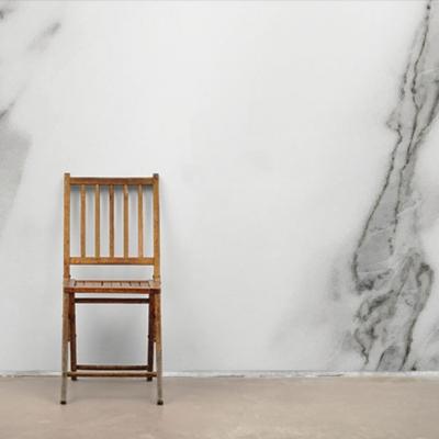 Фотообои Белый Мрамор с Серыми Прожилками  Узоры на Стене