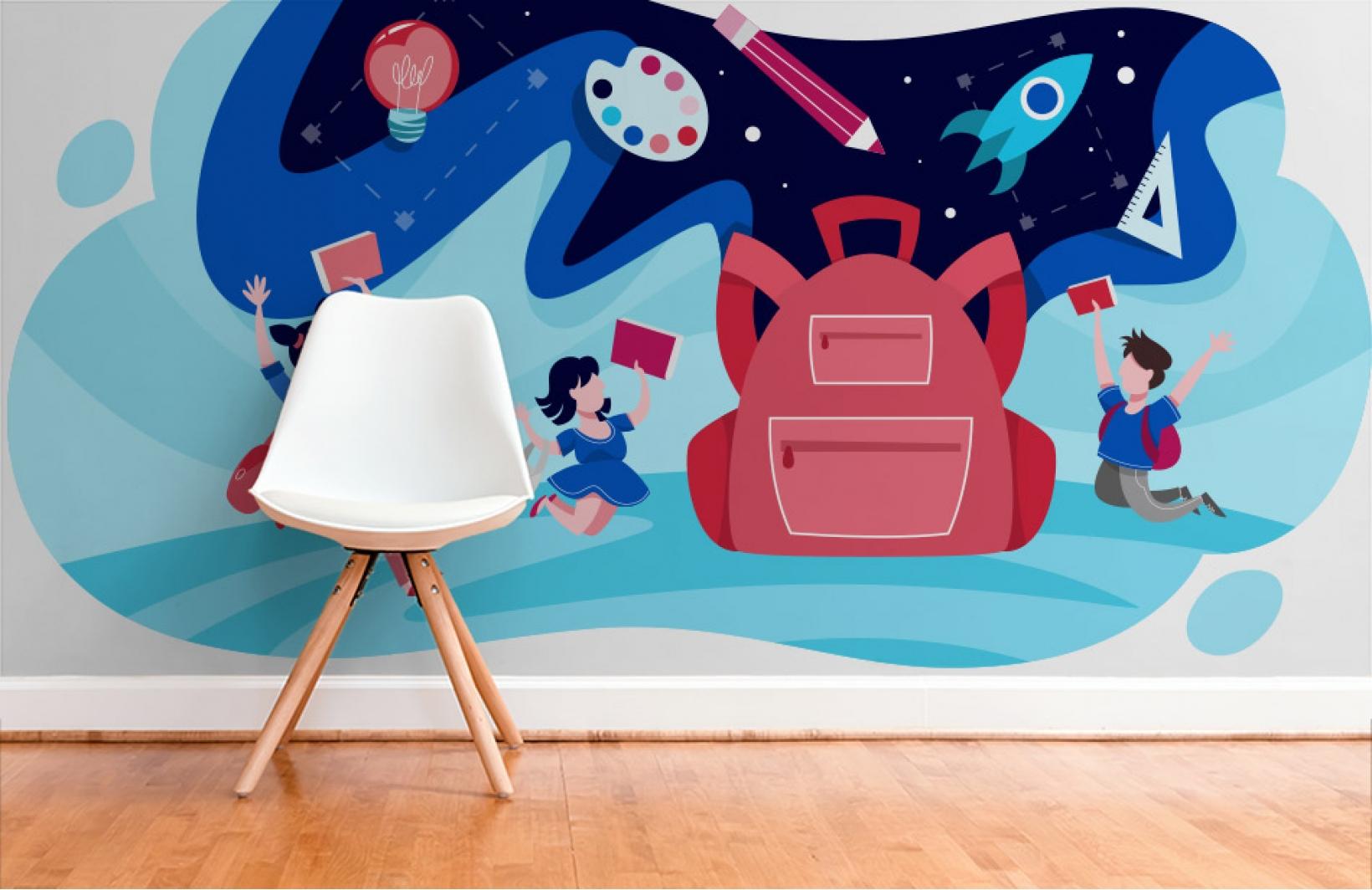 Яркие фотообои о полетах в космос во сне в детскую комнату Узоры на Стене