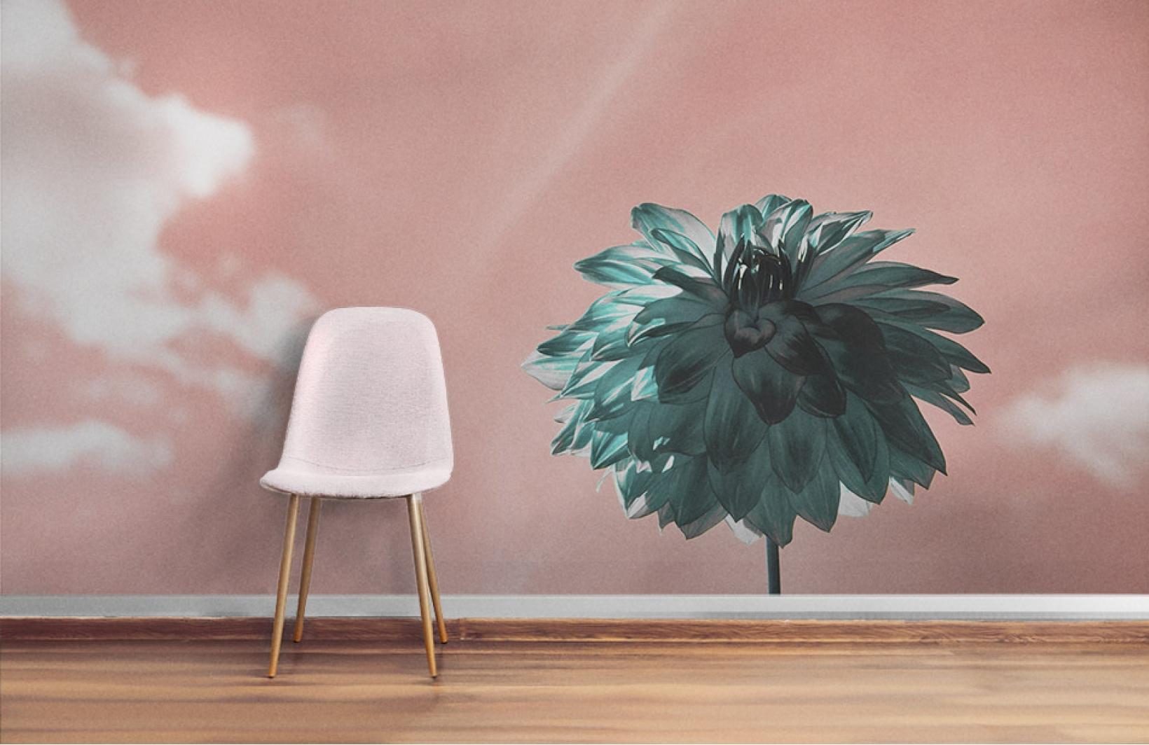 3d фотообои в сюрреалистичных цветах Узоры на Стене