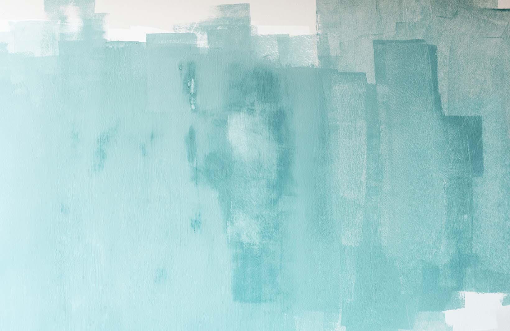 Абстрактные бирюзовые фотообои для трендовых интерьеров Узоры на Стене