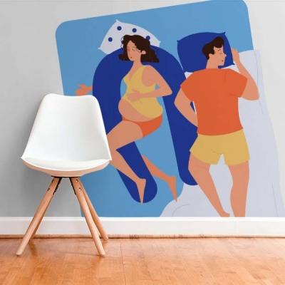 Фотообои в детскую комнату младенца  Узоры на Стене